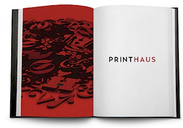 printhaus 10 identity poster branding logo design