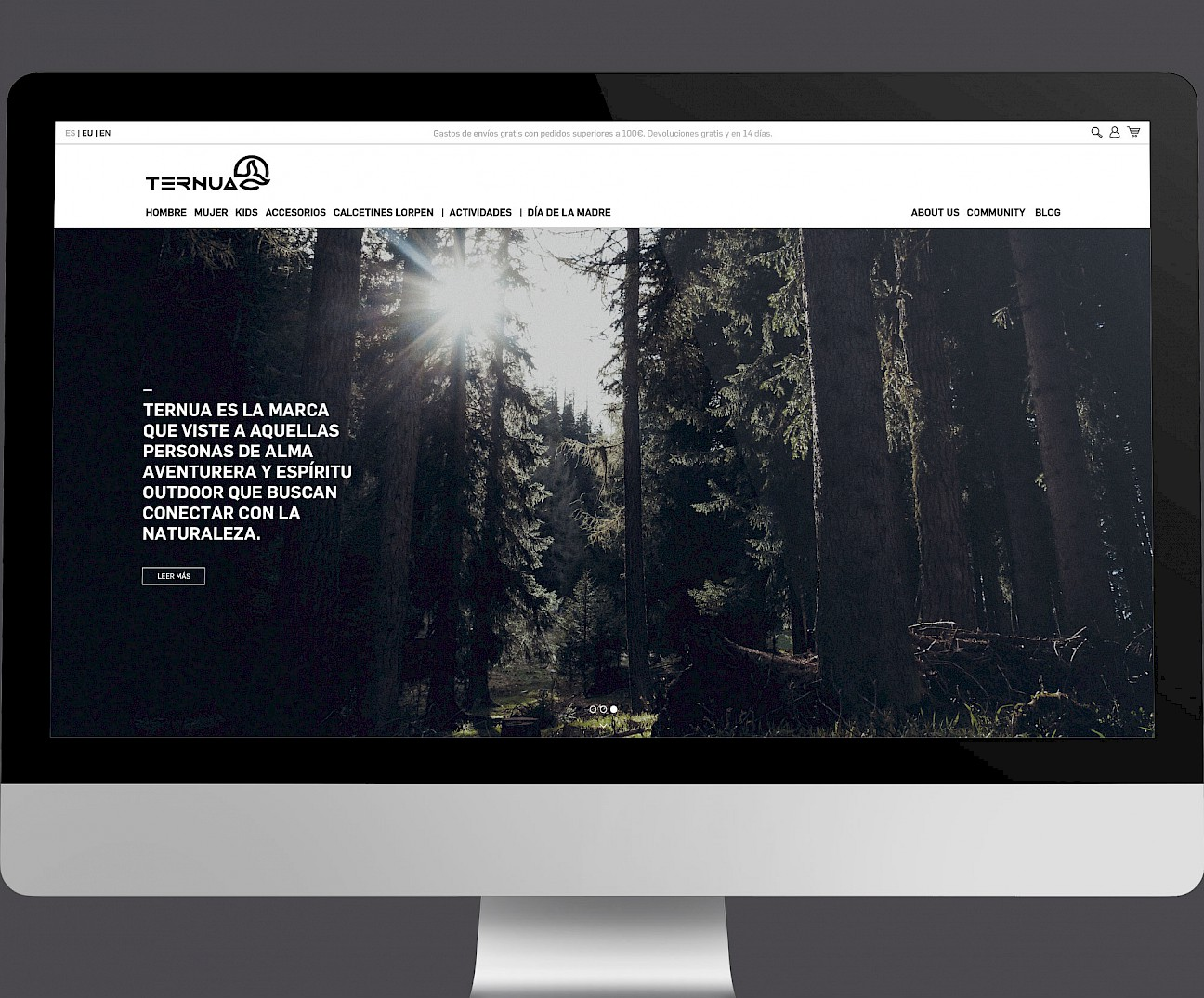 01 ternua move branding wireframe website design digital