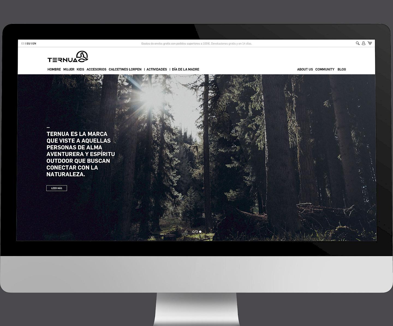 01 design website branding digital move ternua wireframe