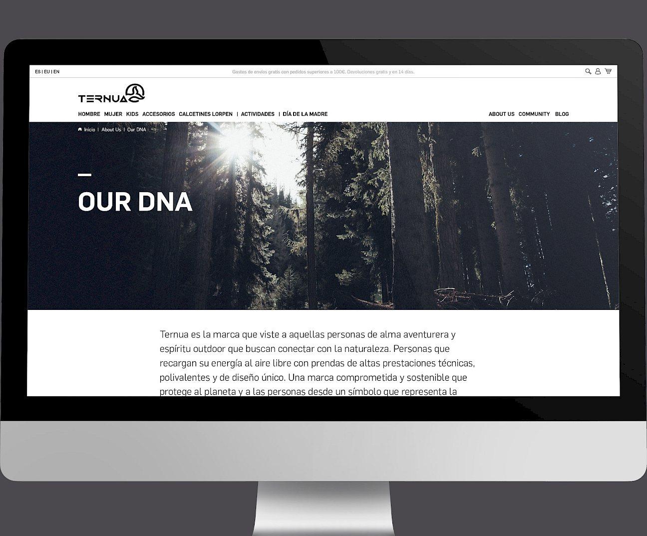 design 02 website branding digital ternua wireframe move