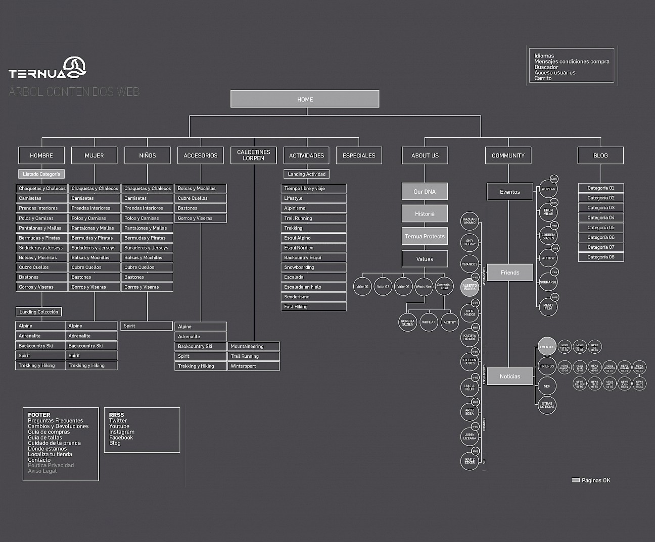 digital wireframe website ternua 03 move design branding