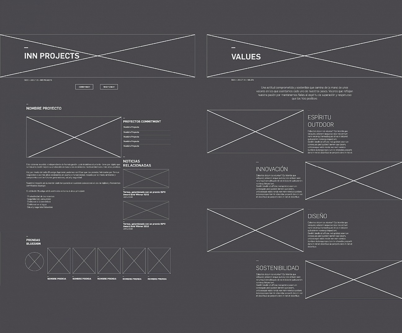 04 design wireframe digital website move branding ternua