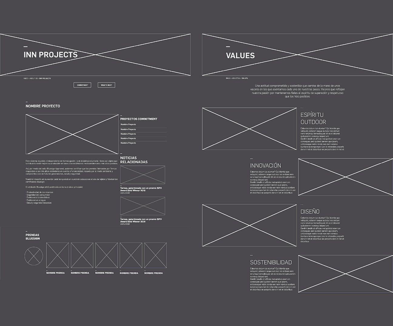 website ternua branding wireframe design 04 move digital