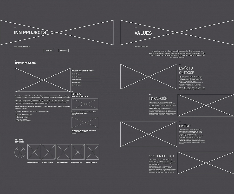 branding ternua digital website design 04 wireframe move