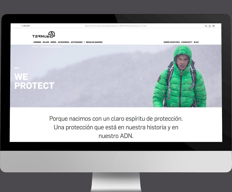 06 design digital branding ternua wireframe website move