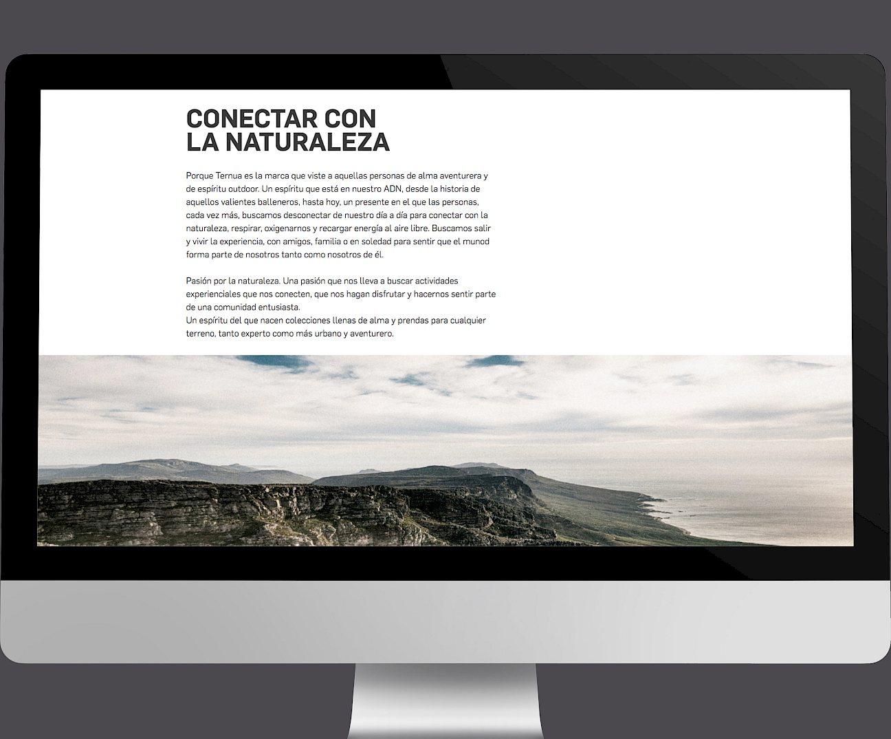 ternua digital wireframe branding 08 move website design
