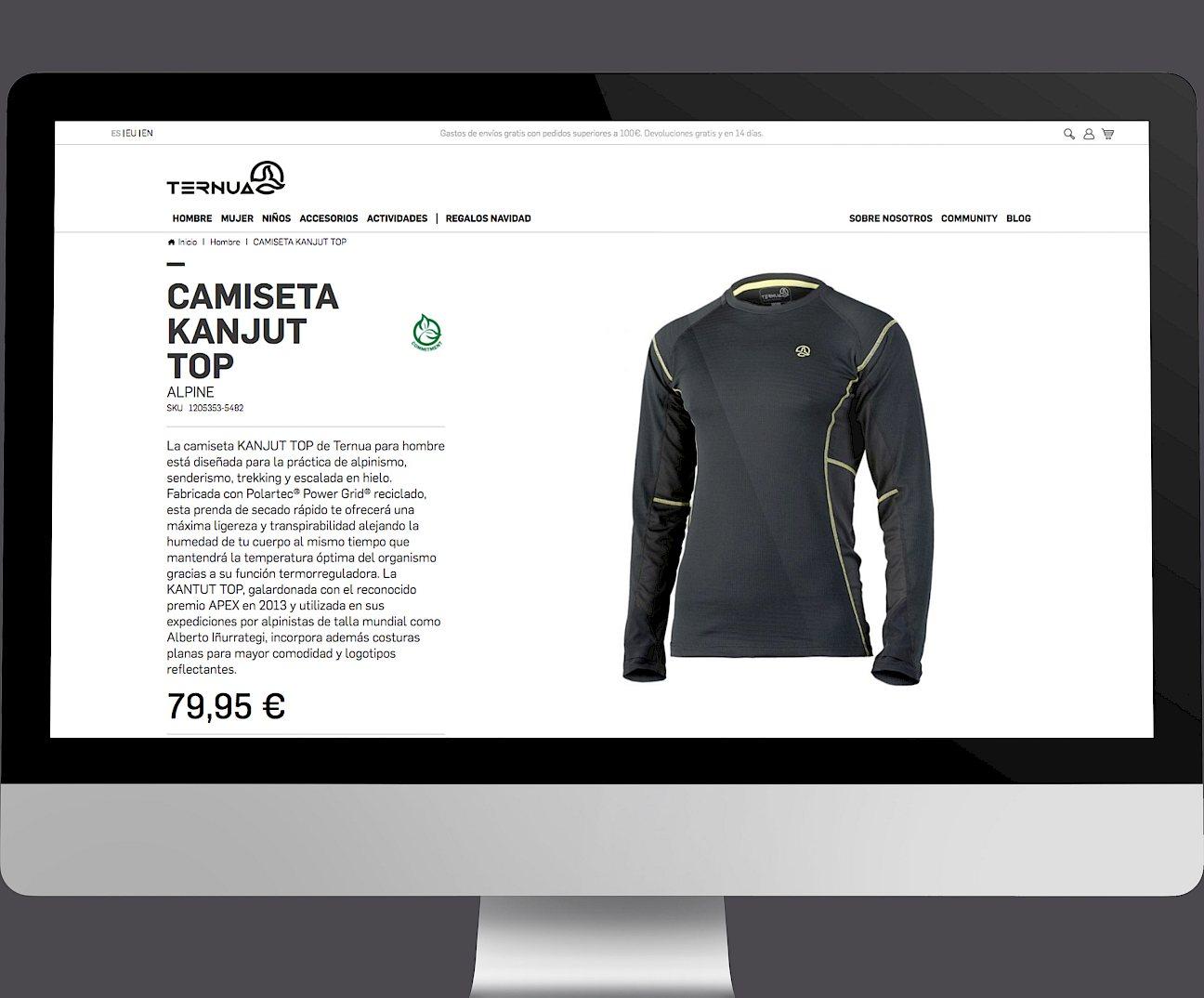 09 website wireframe design move ternua branding digital