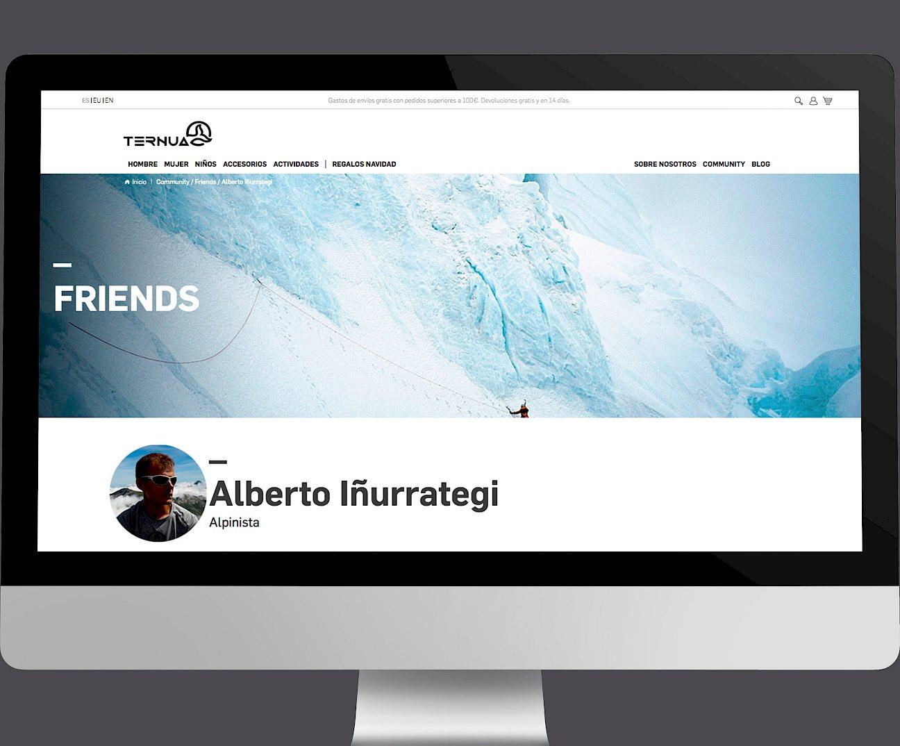 wireframe move ternua website digital 10 design branding