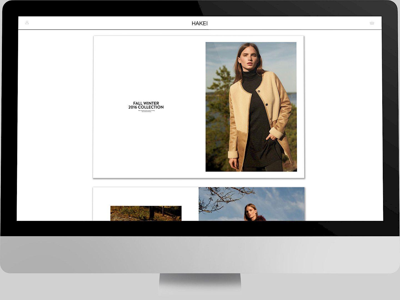 web 02 fashion website branding hakei design digital move