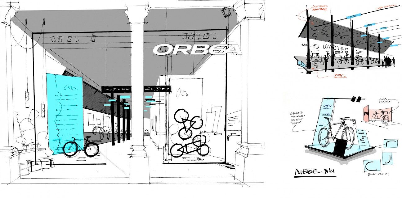 01 orbea move drawing sports spaces lifestyle branding