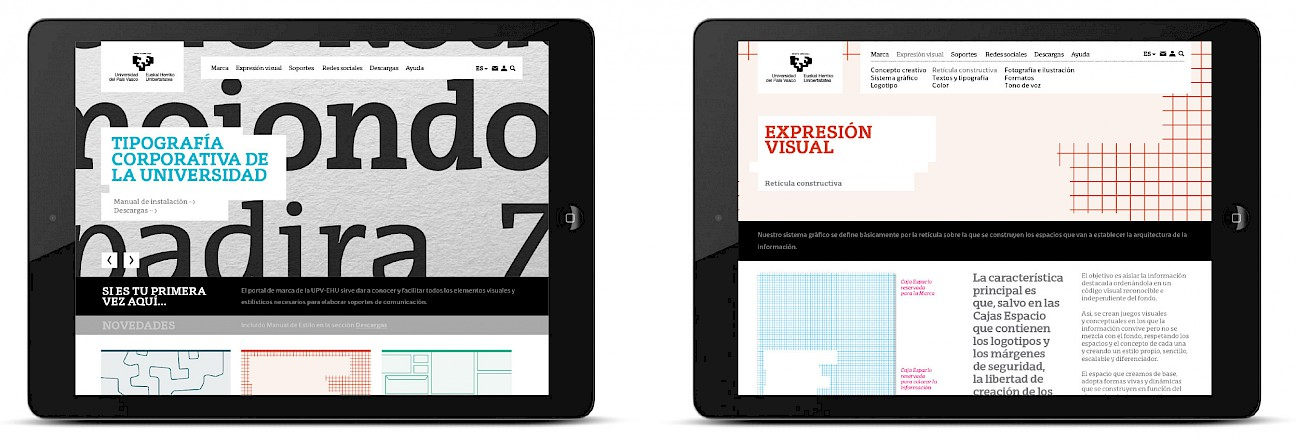 typography portal culture 02 upv art move branding app marca de narrative digital design