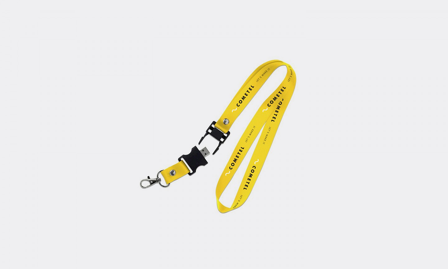 design cometel lanyard branding technology move