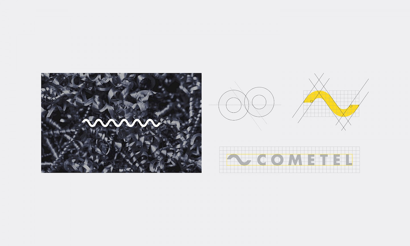 move cometel logo design branding technology