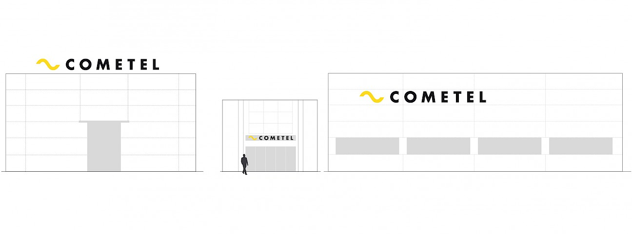 move design 2 technology branding fachada cometel