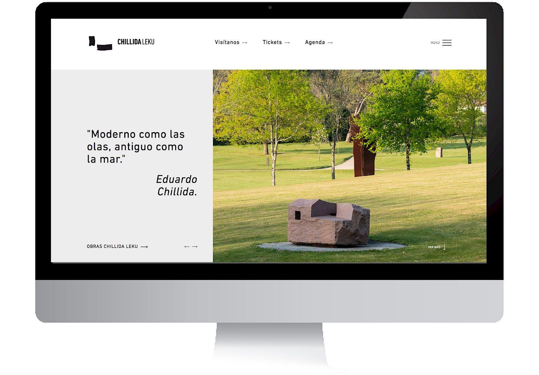 social museo culture chillida leku media digital 01 branding website move