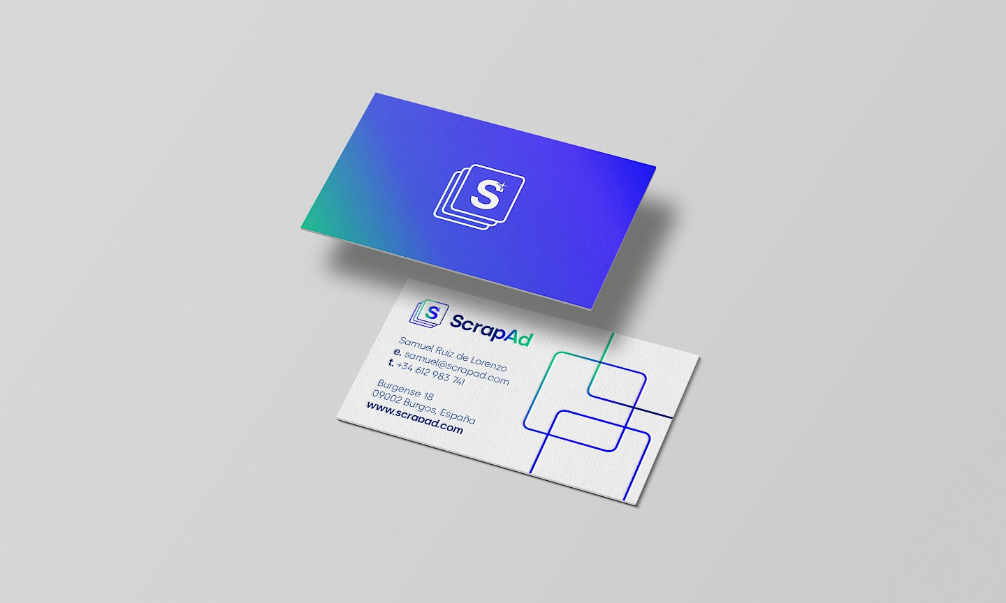 scrapad scrap digital move industrial branding slider branding webapp business cards
