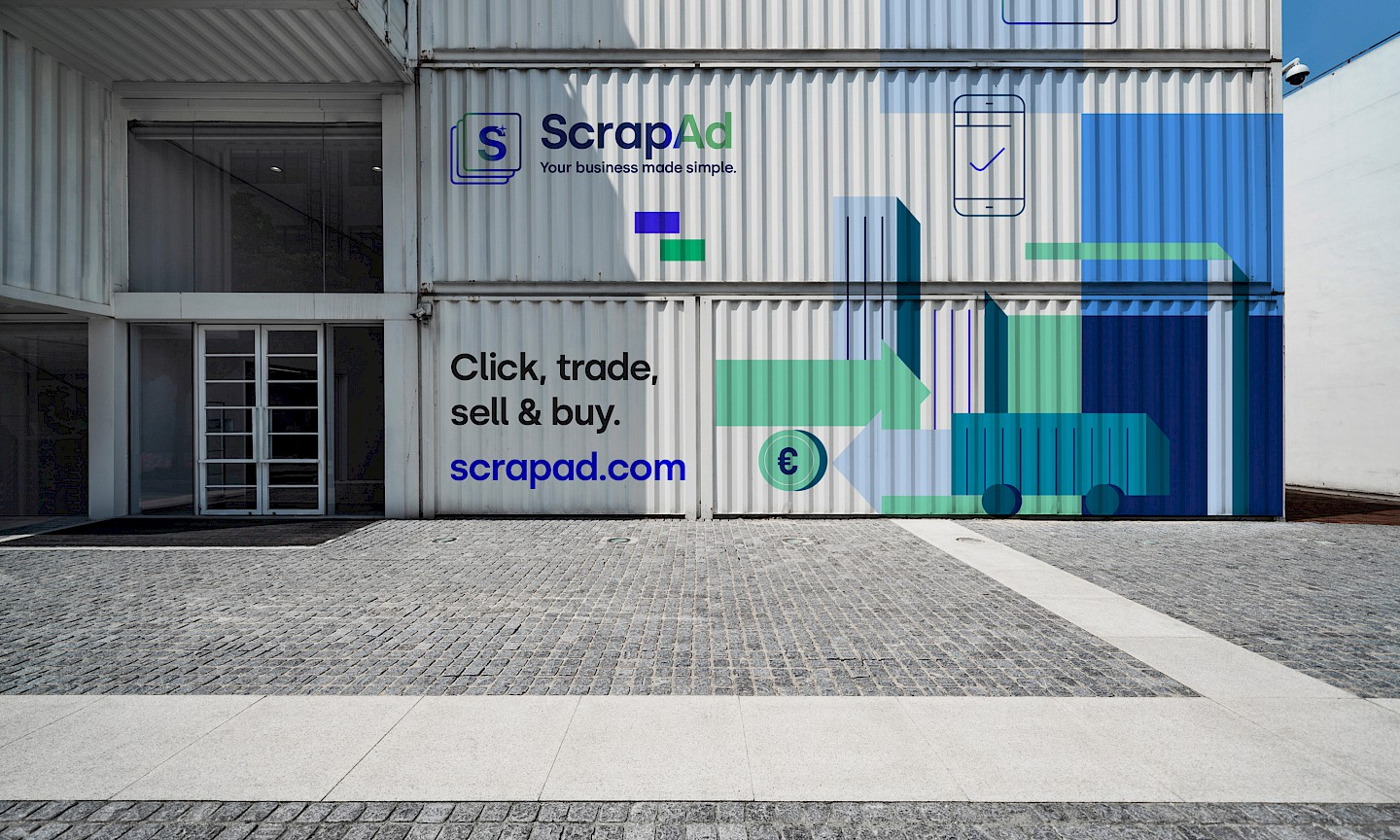 industrial branding webapp slider branding scrapad scrap move offices digital