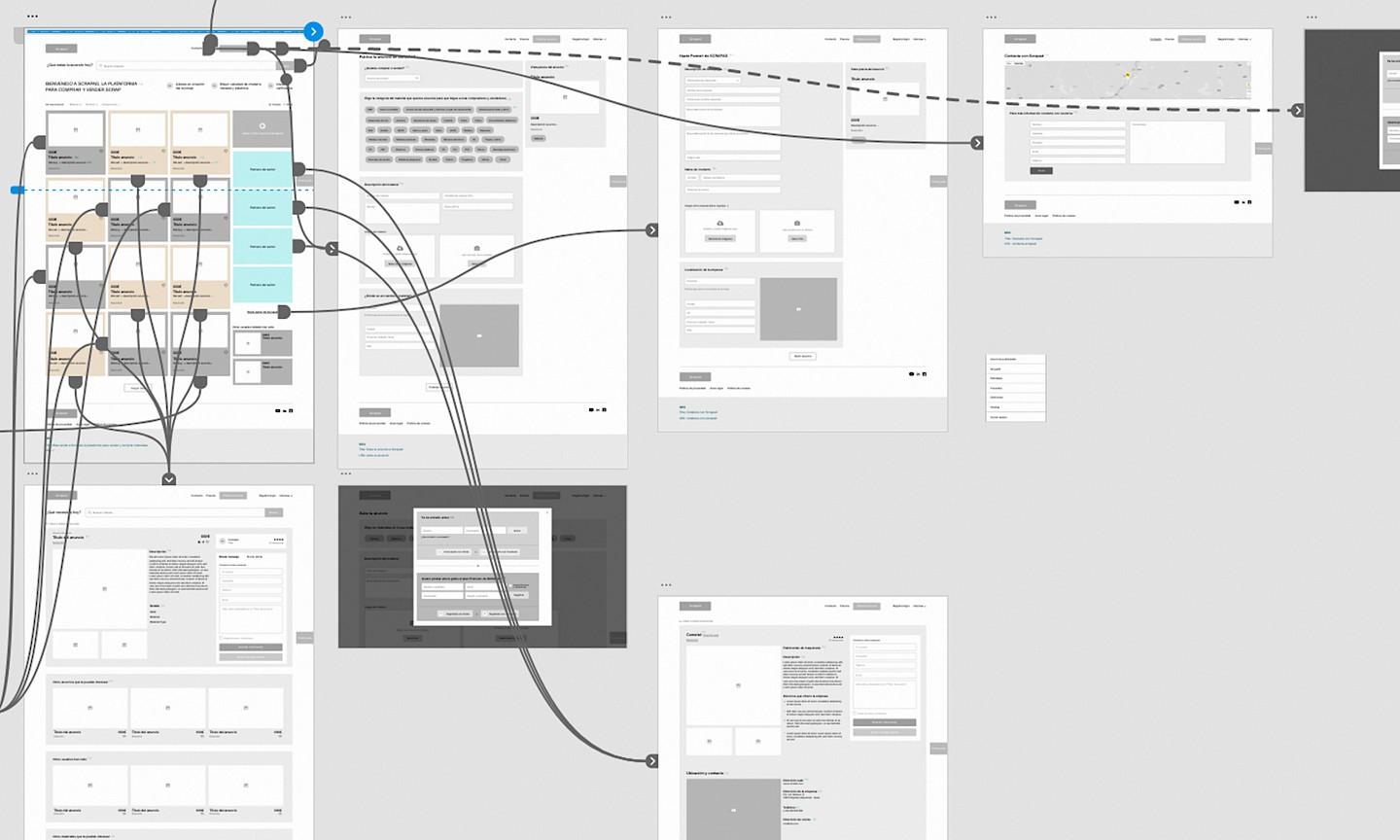 wireframe scrapad 2 branding move scrap flow digital branding industrial webapp